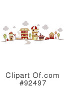 Royalty-Free (RF) village Clipart Illustration #92497