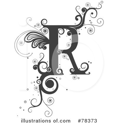 Royalty-Free (RF) Vine Letter Clipart Illustration by BNP Design