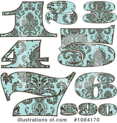 Royalty-Free (RF) Vintage Numbers Clipart Illustration by BestVector - Stock Sample #1084170