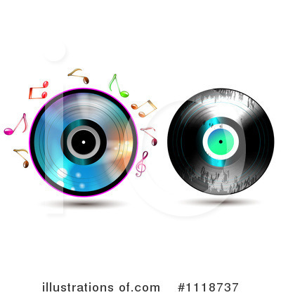 Royalty-Free (RF) Vinyl Record Clipart Illustration by merlinul - Stock Sample #1118737