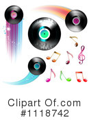 Royalty-Free (RF) Vinyl Record Clipart Illustration #1118742