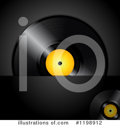Vinyl Records Clipart #1198912 by elaineitalia