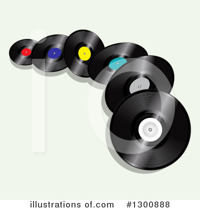 Vinyl Records Clipart #1300888 by elaineitalia