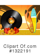Royalty-Free (RF) Vinyl Record Clipart Illustration #1322191