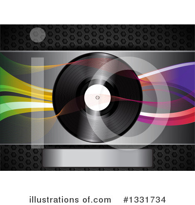 Vinyl Records Clipart #1331734 by elaineitalia