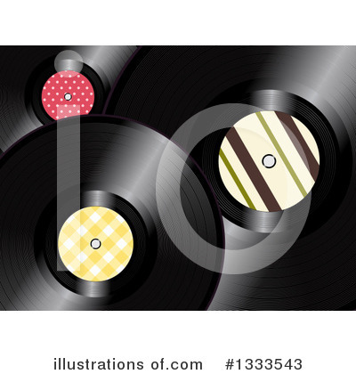 Vinyl Records Clipart #1333543 by elaineitalia
