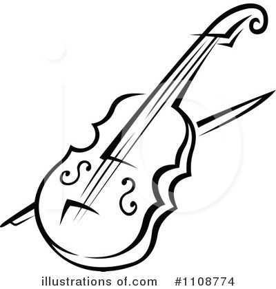 Violin Clipart #1108774 by Vector Tradition SM