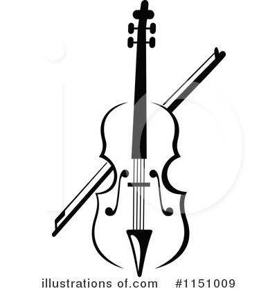 Royalty-Free (RF) Violin Clipart Illustration by Vector Tradition SM - Stock Sample #1151009