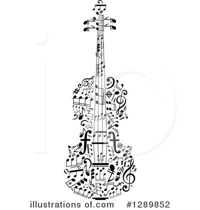 Violin Clipart #1289852 by Vector Tradition SM