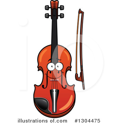 Violin Clipart #1304475 by Vector Tradition SM