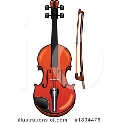 Violin Clipart #1304476 by Vector Tradition SM