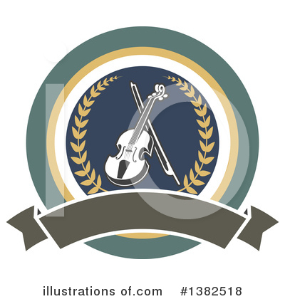 Violin Clipart #1382518 by Vector Tradition SM