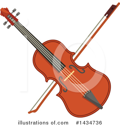 Violin Clipart #1434736 by Vector Tradition SM