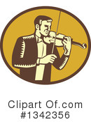 Royalty-Free (RF) Violinist Clipart Illustration #1342356