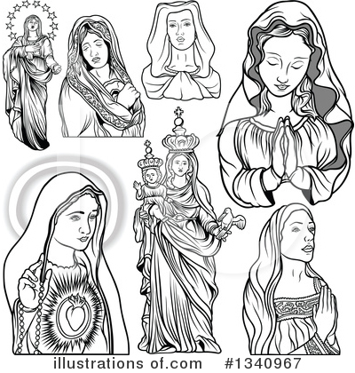 Virgin Mary Clipart #1340967 by dero