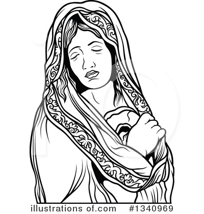 Virgin Mary Clipart #1340969 by dero