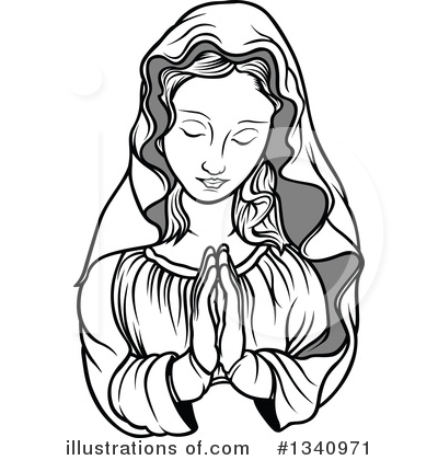 Virgin Mary Clipart #1340971 by dero