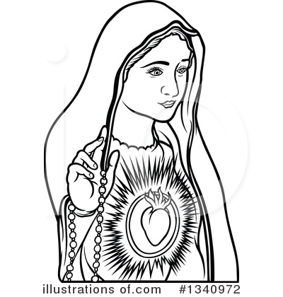 Virgin Mary Clipart #1340972 by dero