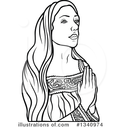 Virgin Mary Clipart #1340974 by dero