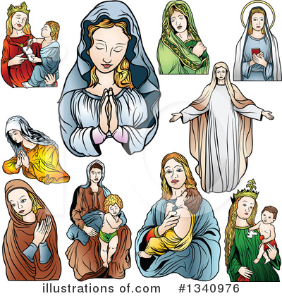 Virgin Mary Clipart #1340976 by dero