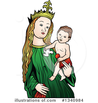 Virgin Mary Clipart #1340984 by dero