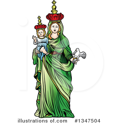 Virgin Mary Clipart #1347504 by dero