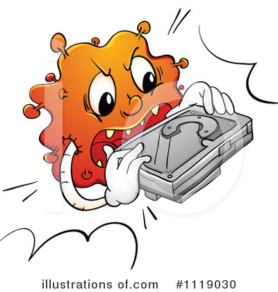 Computer Virus Clipart #1119030 by Graphics RF