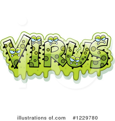 Virus Clipart #1229780 by Cory Thoman