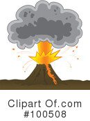 Volcano Clipart #100508 by Paulo Resende