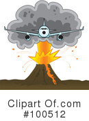 Royalty-Free (RF) Volcano Clipart Illustration #100512