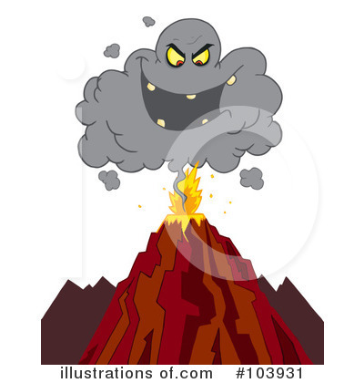 Volcano Clipart #103931 by Hit Toon