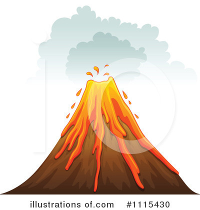 Volcano Clipart #1115430 by Graphics RF