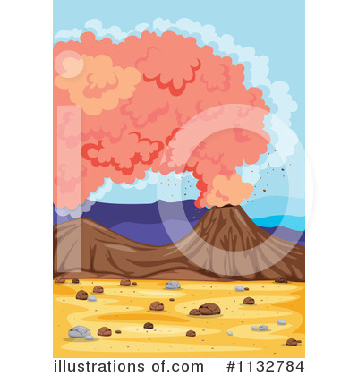 Volcano Clipart #1132784 by Graphics RF