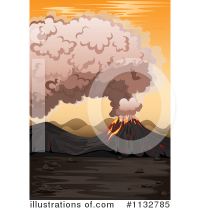 Volcano Clipart #1132785 by Graphics RF