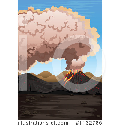 Volcano Clipart #1132786 by Graphics RF
