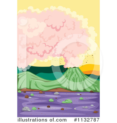 Volcano Clipart #1132787 by Graphics RF