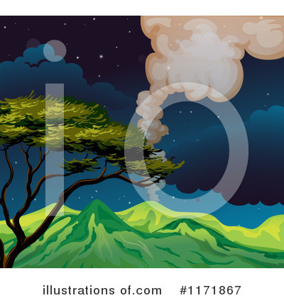 Royalty-Free (RF) Volcano Clipart Illustration by Graphics RF - Stock Sample #1171867