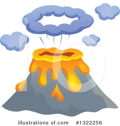 Volcano Clipart #1322256 by visekart