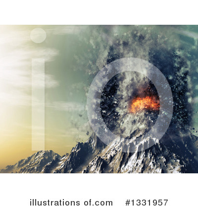 Volcano Clipart #1331957 by KJ Pargeter