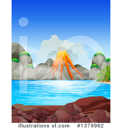 Volcano Clipart #1379962 by Graphics RF