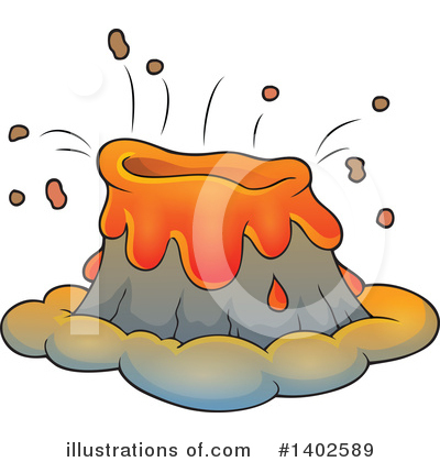 Volcano Clipart #1402589 by visekart