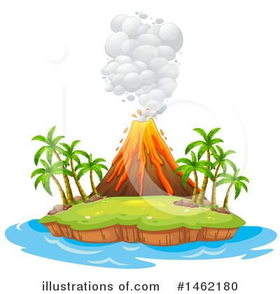 Volcano Clipart #1462180 by Graphics RF