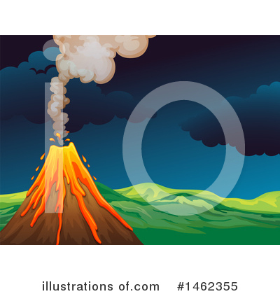 Volcano Clipart #1462355 by Graphics RF