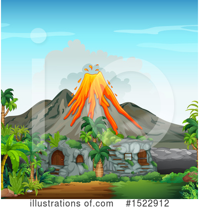 Volcano Clipart #1522912 by Graphics RF