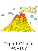 Volcano Clipart #34167 by Alex Bannykh