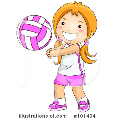 Volleyball Clipart #101494 by BNP Design Studio