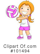 Royalty-Free (RF) Volleyball Clipart Illustration #101494