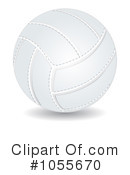 Royalty-Free (RF) Volleyball Clipart Illustration #1055670