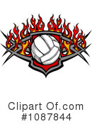 Royalty-Free (RF) Volleyball Clipart Illustration #1087844