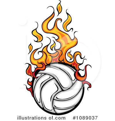 Royalty-Free (RF) Volleyball Clipart Illustration by Chromaco - Stock Sample #1089037